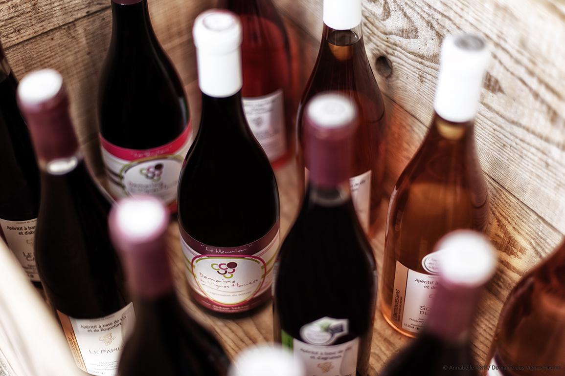 Boutique de vente de vins, jus bio et apéritifs du Haut Poitou